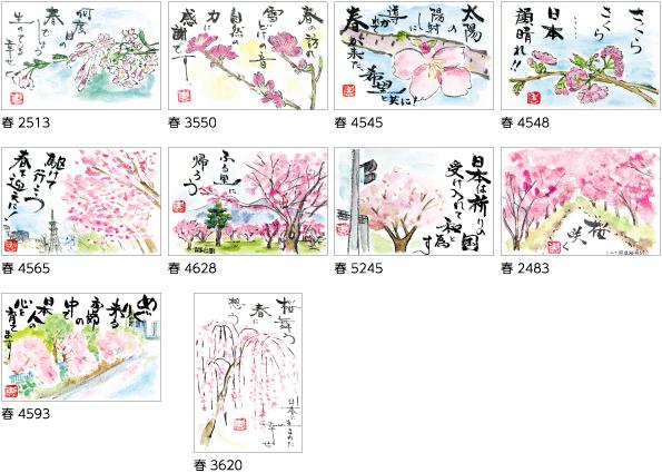 桜のはがき絵(絵手紙)