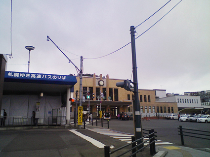 朝の小樽駅