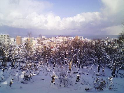 小樽公園の冬景色