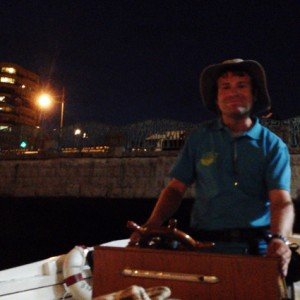 小樽運河クルーズの水先案内人