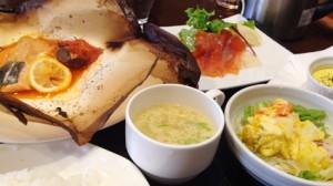 銀聖とびらとり産野菜の紙包み焼き