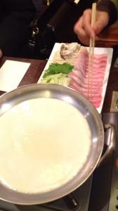 豆乳豚肉のしゃぶしゃぶ
