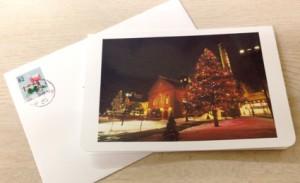 二つ折りのクリスマスカード
