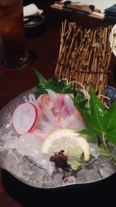 宇和島みかん鯛のお造り