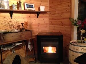 1階の暖炉