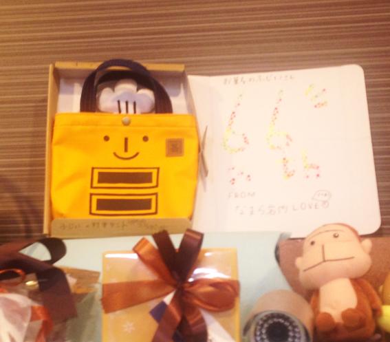 お客様からのプレゼントのバッグ