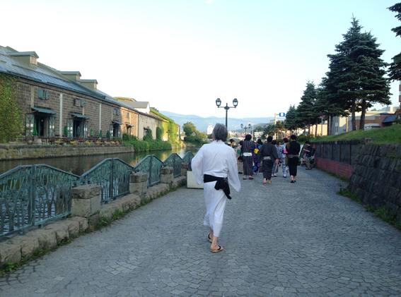 小樽運河沿いを浴衣でGO