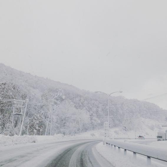 真っ白でめっちゃきれいな景色!