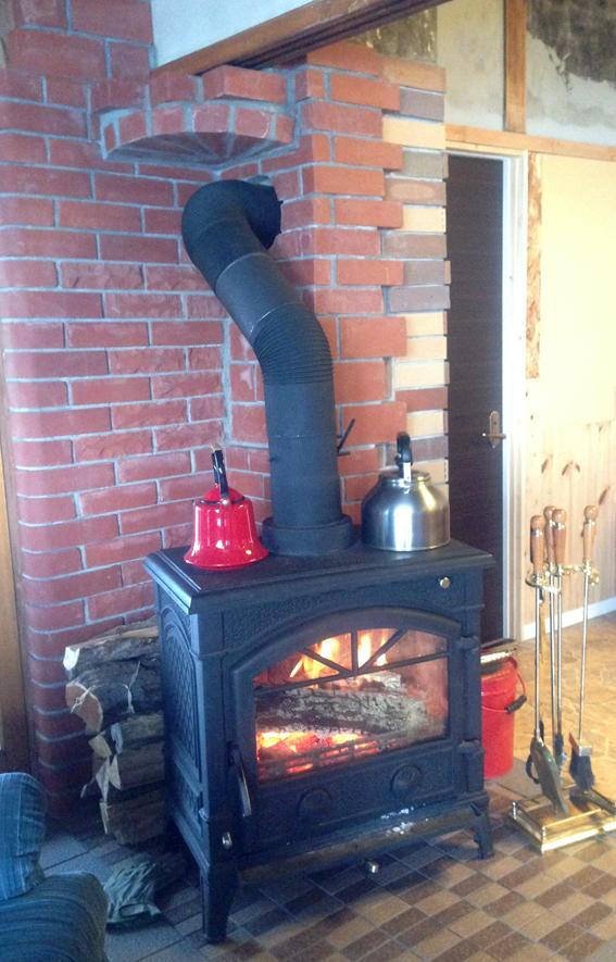 暖炉のある素敵なお宅をお借りしました