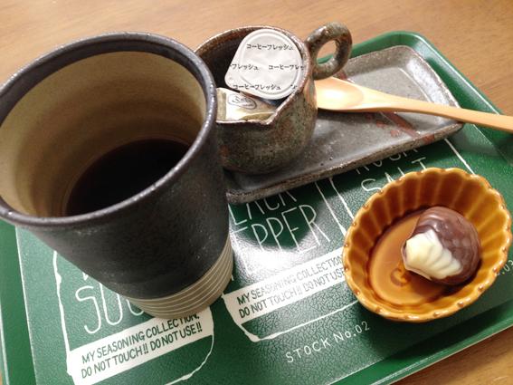 まずはコーヒーとチョコで頭を活性化