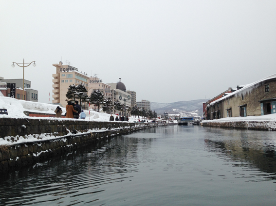 小樽運河の中から小樽観光