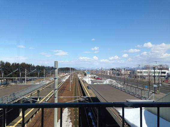 幌向駅からの眺め