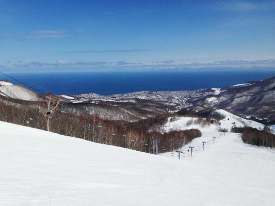 朝里川温泉スキー場のてっぺん