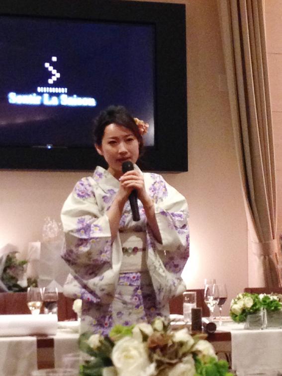 美佳さんのスピーチ
