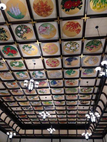 小樽貴賓館1Fホールの天井