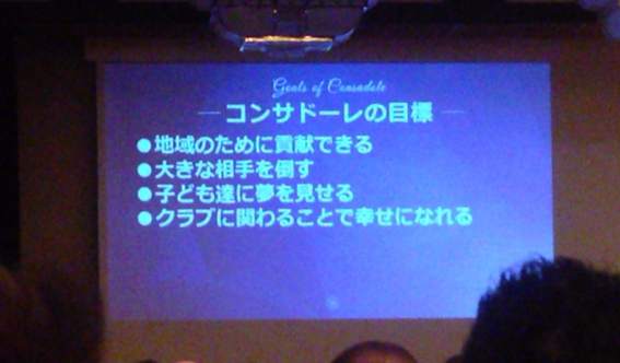コンサドーレ札幌の目標
