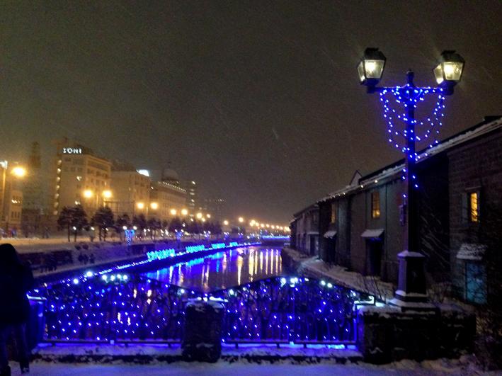 青の小樽運河