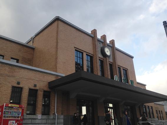 歴史的建造物の小樽駅