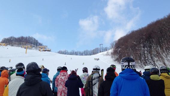 快晴の朝里川温泉スキー場