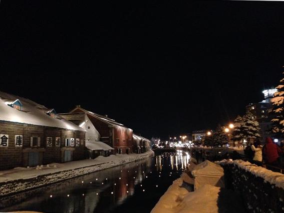 全国でも珍しい埋め立て式の小樽運河