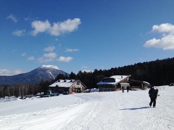 阿寒湖畔スキー場から見える雄阿寒岳