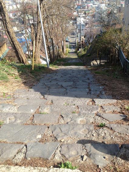 南小樽駅側からの旧参道