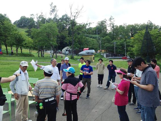 パークゴルフ大会の開会式