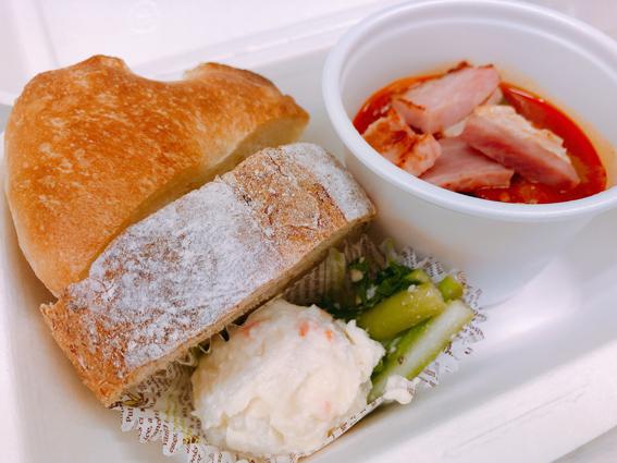 ラタトゥイユとパンのランチボックス