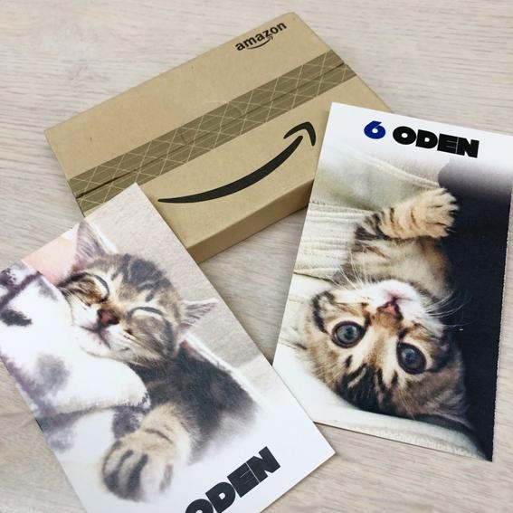 猫のカードとAmazonカード