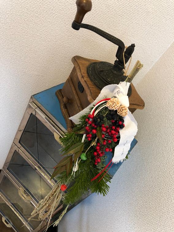 玄関に素敵なお正月飾り