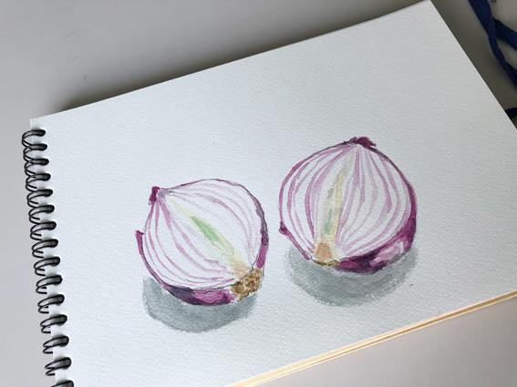 モチーフは紫玉ねぎ