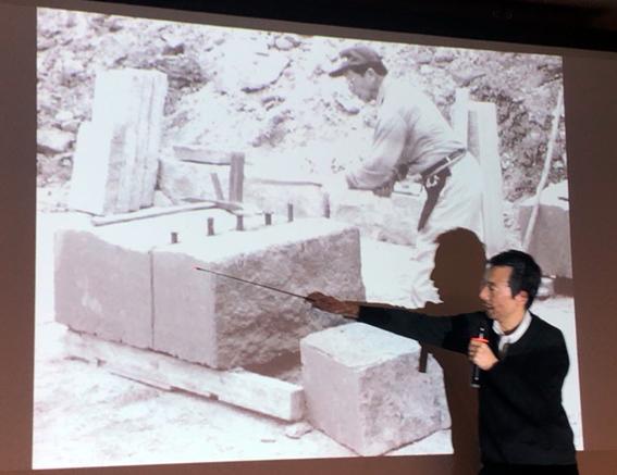 札幌軟石の採掘の様子