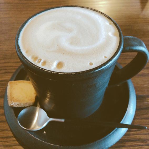 あったかカフェオレいただきました!
