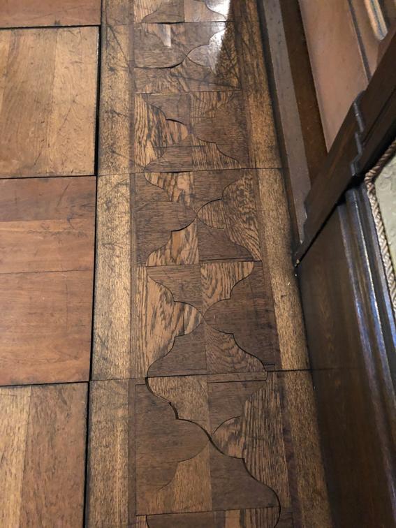寄木細工の床!