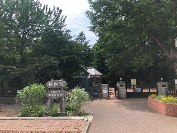 北大植物園の出口
