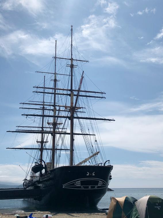 1866年にオランダで作られた開陽丸 江差で座礁・沈没した