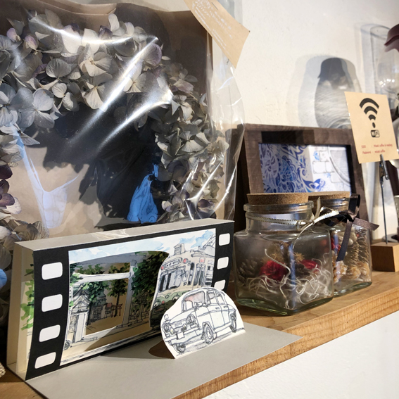 松本浦氏の工作品が展示されていました