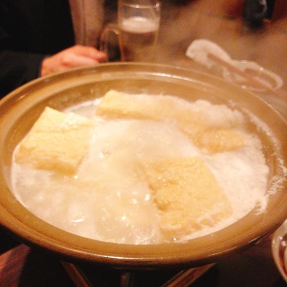 おすすめコースの豆腐鍋!