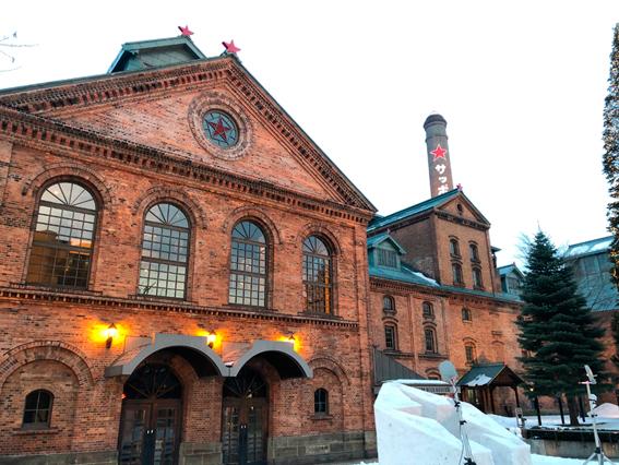 北海道遺産のレンガの建物