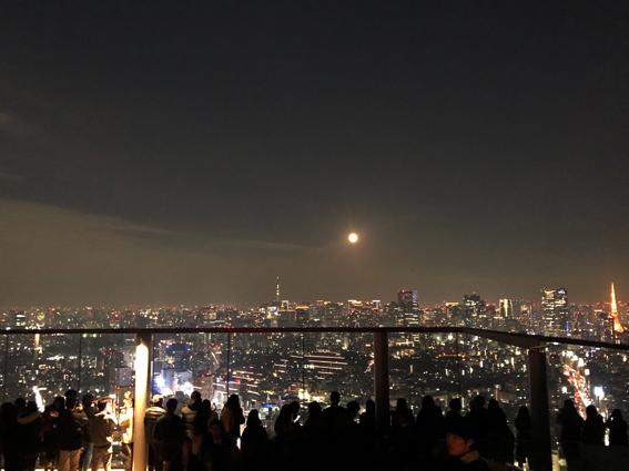 スカイツリー 満月 東京タワー