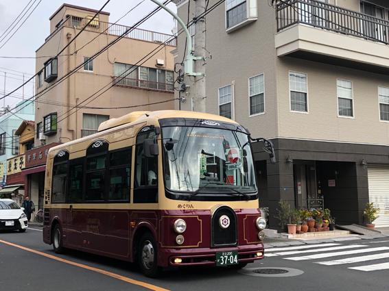 台東区内を循環するコミュニテイバス「めぐりん」