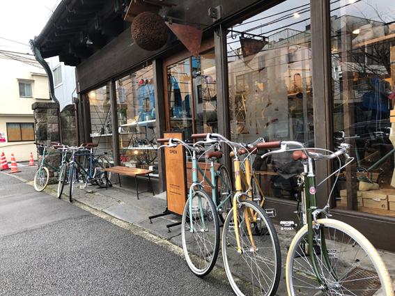 元酒屋のおしゃれな自転車屋さん