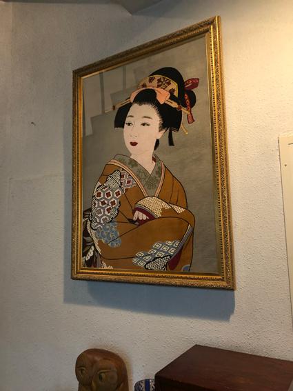 日本画 フレームは洋風な感じが…