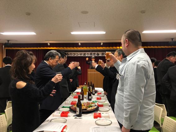 乾杯は、商工会議所の福岡さん