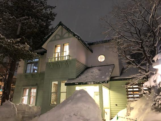 冬の旧三菱鉱業寮