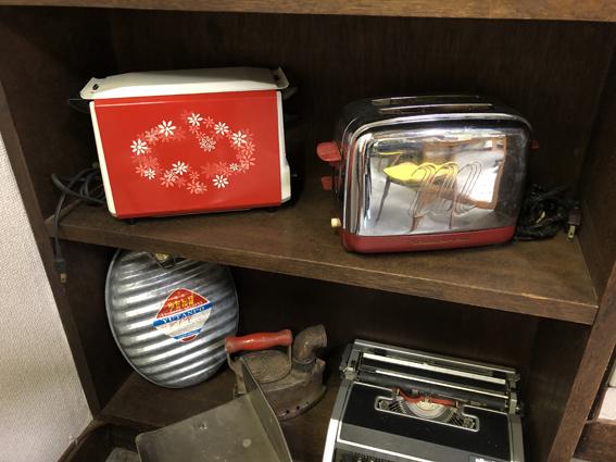 トースター、湯たんぽ、タイプライターなど