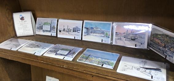 たくさんの小樽の風景のポストカード