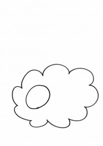 雲の中に円を書く