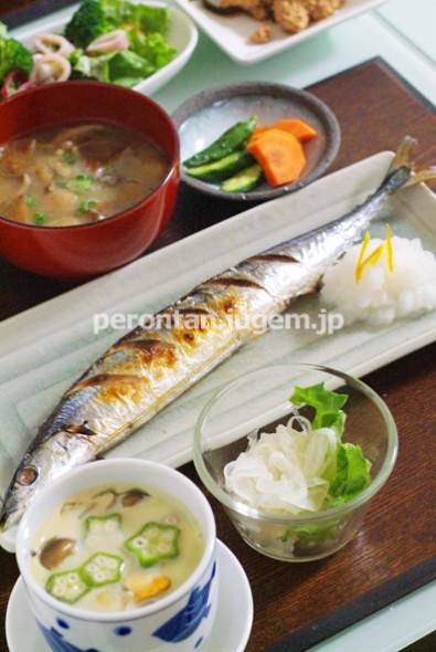北海道の美味しい秋刀魚を塩焼きで