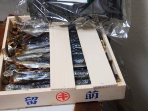 木箱入りの本乾き身欠きニシン